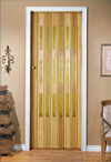 Folding door, stained, TE - yellow glazing