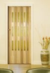 Folding door, varnished, TE - yellow glazing